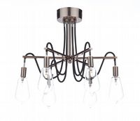 Scroll 6 Light Fitting Finished in Copper with Clear Glass Shades - där SCR0664
